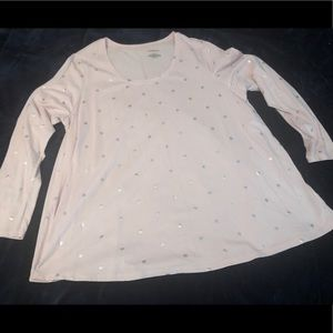 Lane Bryant baby pink long sleeve top size 18/20
